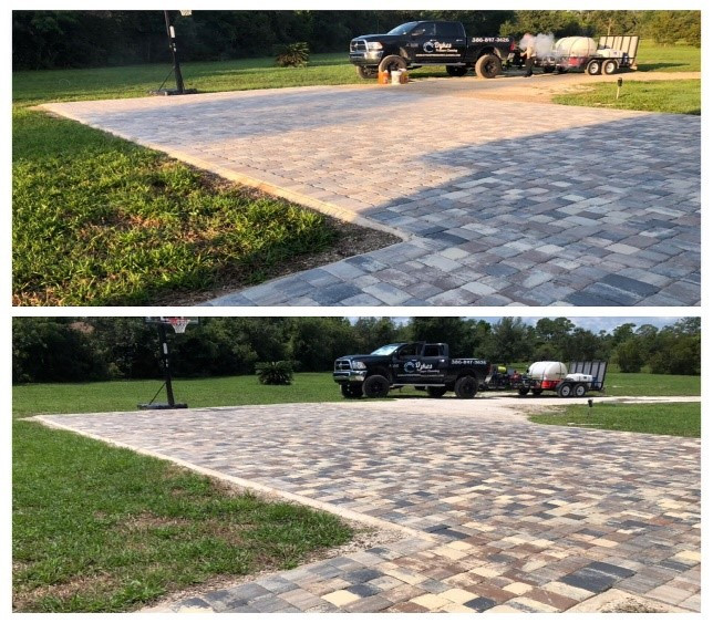 sealed paver driveway