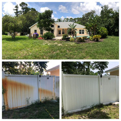 Fence stains removed