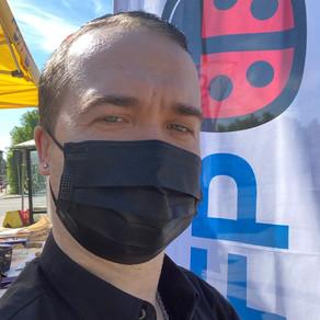 Porvoon torilla 5.6.2021, aurinkoinen sää suosi vaalikampanjaa #Sebbe245