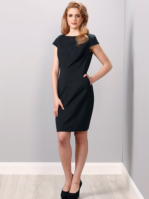 Ladies' Wool Blend Stretch Cap Sleeve Dress
