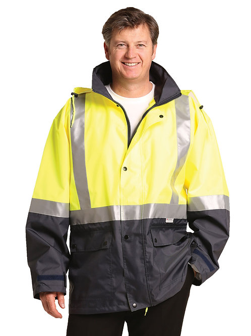 Two Tone Rain Proof Jacket With 3m Reflective Tapes