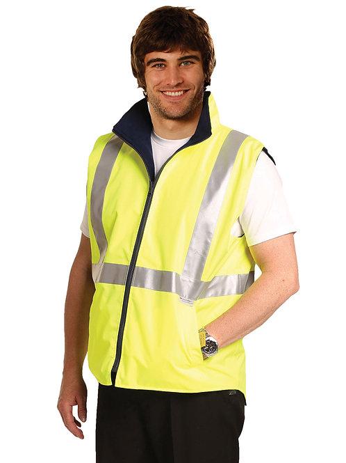 Hi-Vis Reversible Safety Vest With 3m Tapes (Polar Fleece Lining)