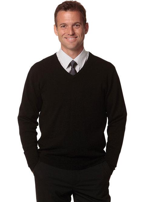 Men's V-Neck Long Sleeves Jumper