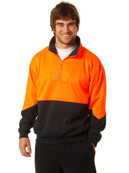 Fleece Sweat with Collar