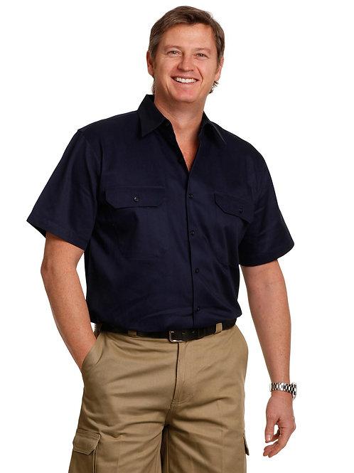 Cotton Short Sleeve Work Shirt