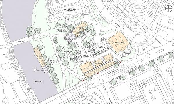 Løkkehaven, parkplan, sandvika, situasjonsplan