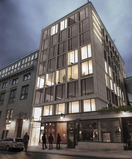 NV11 fasade forslag : rehabilitering av kontorbygg, Nedre vollgate oslo