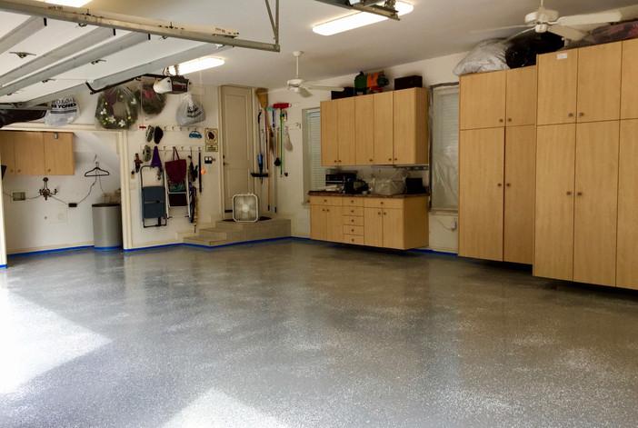 3-Car Garage Floor with Epoxy Paint