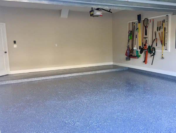 An Epoxy Painted Garage Floor