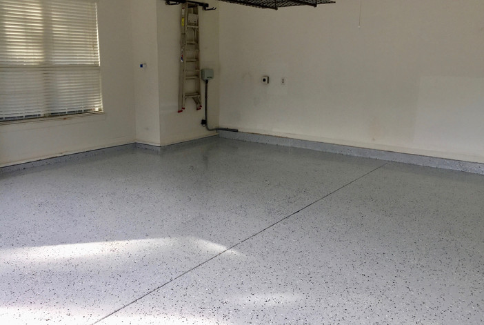 2-Car Epoxy Garage Floor
