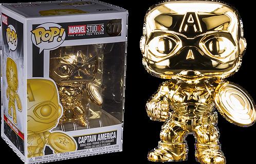 Marvel Studios 10th Year Anniversary Gold Chrome Captain America