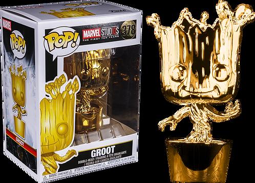 Marvel Studios 10th Year Anniversary Gold Chrome Groot