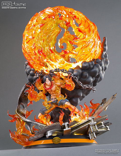 One Piece Portgas D Ace Resin Statue