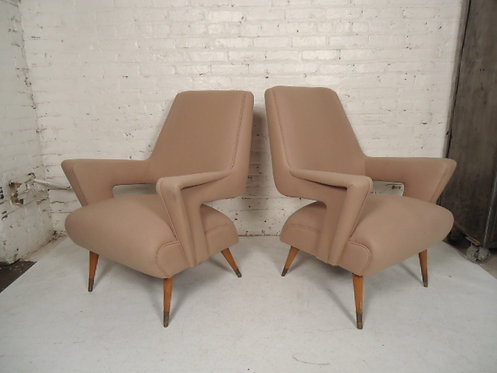 Angular Italian Lounge Chairs