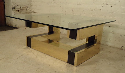 Rare Mid-Century Coffee Table with Paul Evans Design