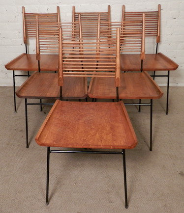 Set of Six Paul McCobb Mid-Century Shovel Chairs