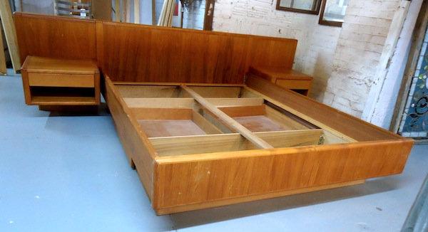 Mid-Century Platform Bed with Storage