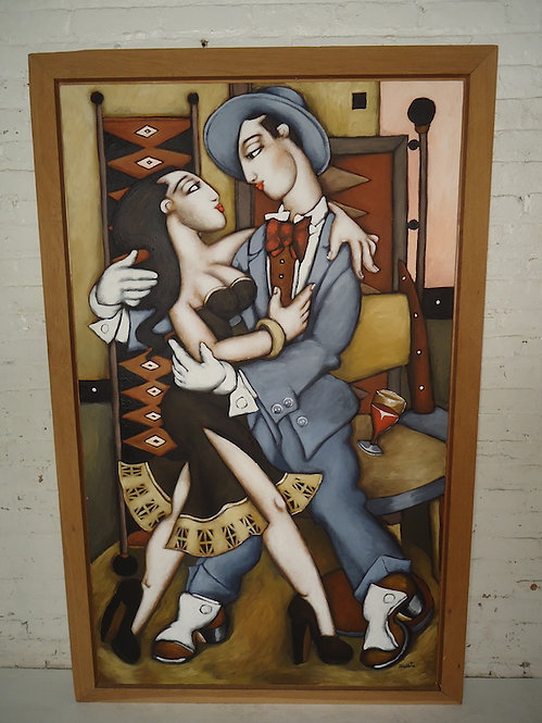 "Large Signed Painting ""Le Bal"""
