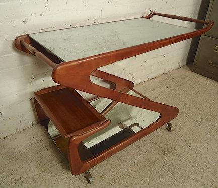 Rare Italian Style Mid-Century Bar Cart