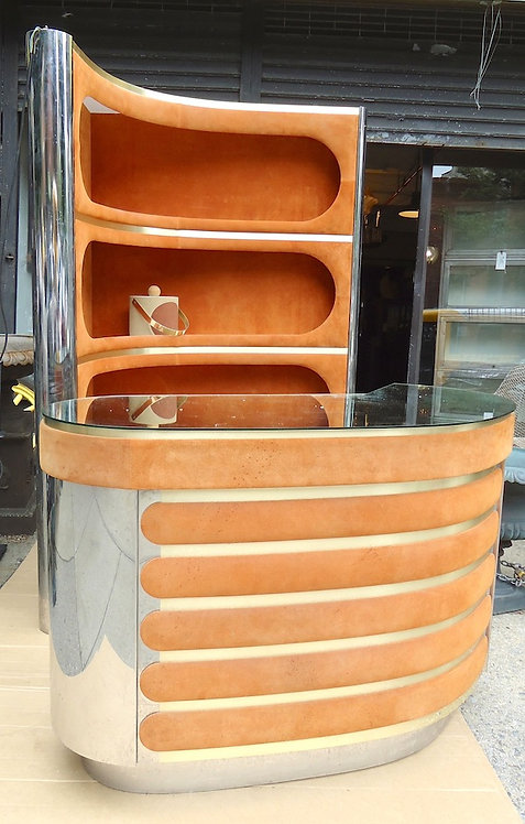 Mid-Century Modern Italian Willy Rizzo Style Bar Set