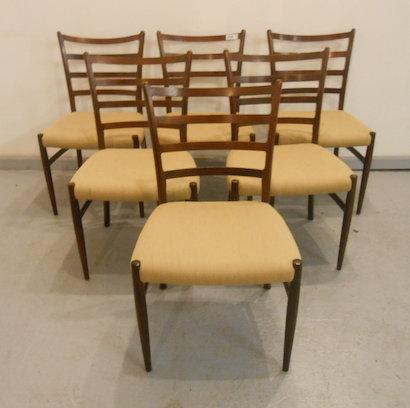 Vintage Danish Rosewood Dining Chairs after Arne Vodder