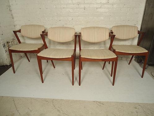 "Kai Kristiansen Model 42 ""Z"" Teak Dining Chairs"