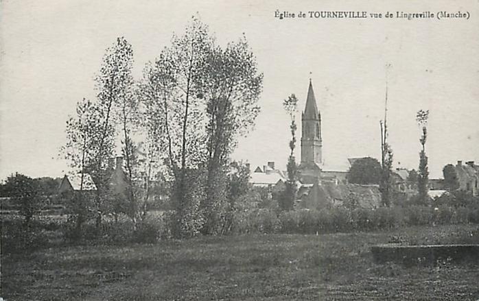Eglise de Tourneville vue de Lingreville