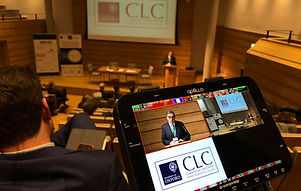 Multi-camera lecture filming and slide capture by Oxford Film Shed at Wolfson College, Oxford