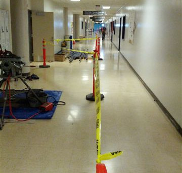 MW GOLDEN CONSTRUCTORS is completing life safety upgrades to the Central Classroom Building at the A