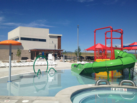 MW GOLDEN CONSTRUCTORS celebrates completed Meadows Neighborhood Community Pool in Castle Rock