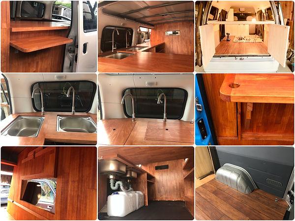 軽バンの移動販売車(キッチンカー )製作イメージ
