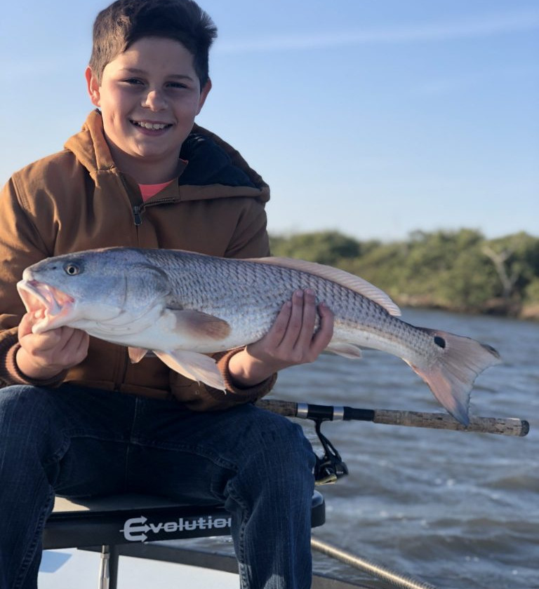 This youngster caught a nice Indian River redfish!