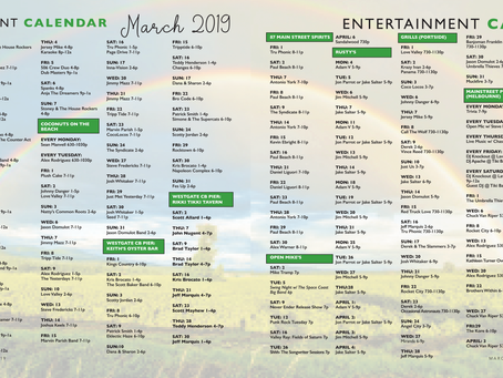 Entertainment Calendar March '19
