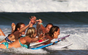 all girls surf trip women surfing