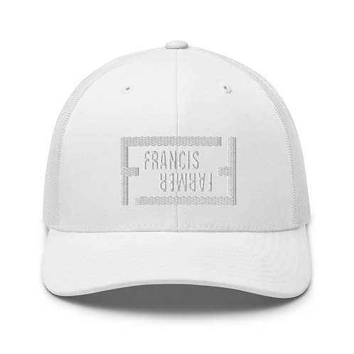 Francis Farmer-Trucker Cap -White Stitch
