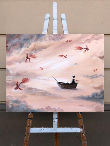 Fishing in the sky