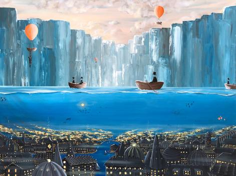 Moonlight under water