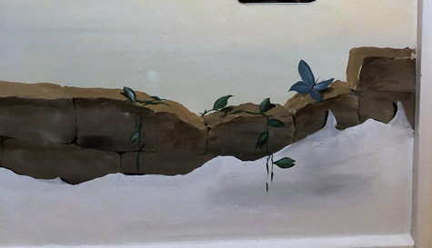 Wallpainting in a children´s room