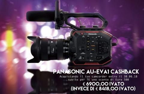 Panasonic AU-EVA1 CASHBACK subitoper TE uno sconto di Euro 500 !!!