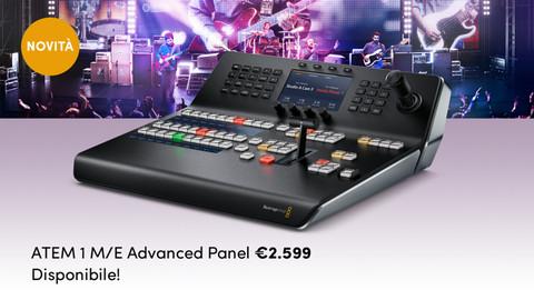 Blackmagic Design presenta ATEM 1 M/E Advanced Panel