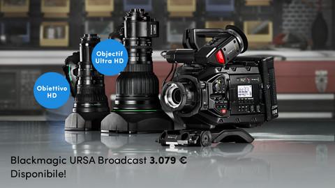 Blackmagic URSA Broadcast, la telecamera per le trasmissioni broadcast più flessibile ed economica a