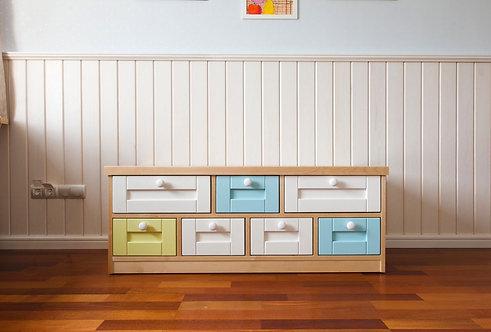 Тумба-скамья с семью ящиками Стёпка