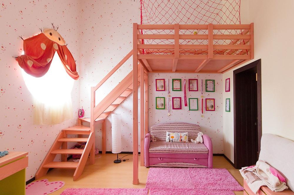 Кровать-чердак из массива дерева, сделано в Ижевске