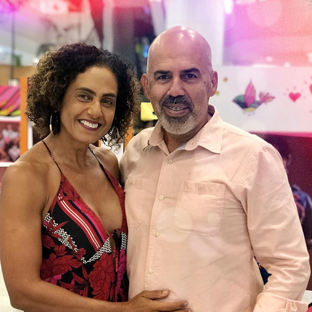 Gal e Chico Brandão, fotógrafos reponsáveis pelo ensaio das pacientes.