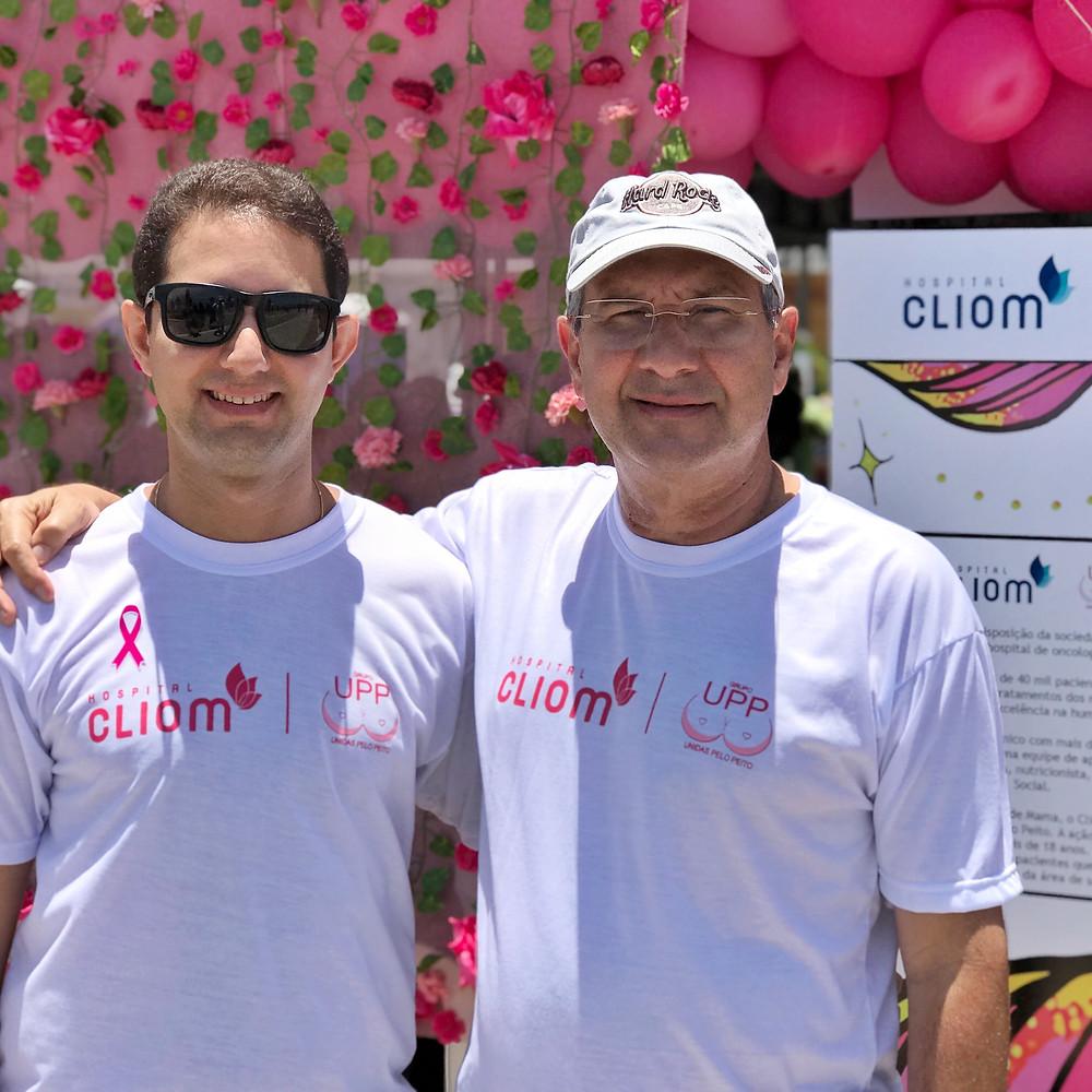 Dr. José Ademir e Dr. André Guimarães, Médicos Oncologistas do Hospital Cliom.
