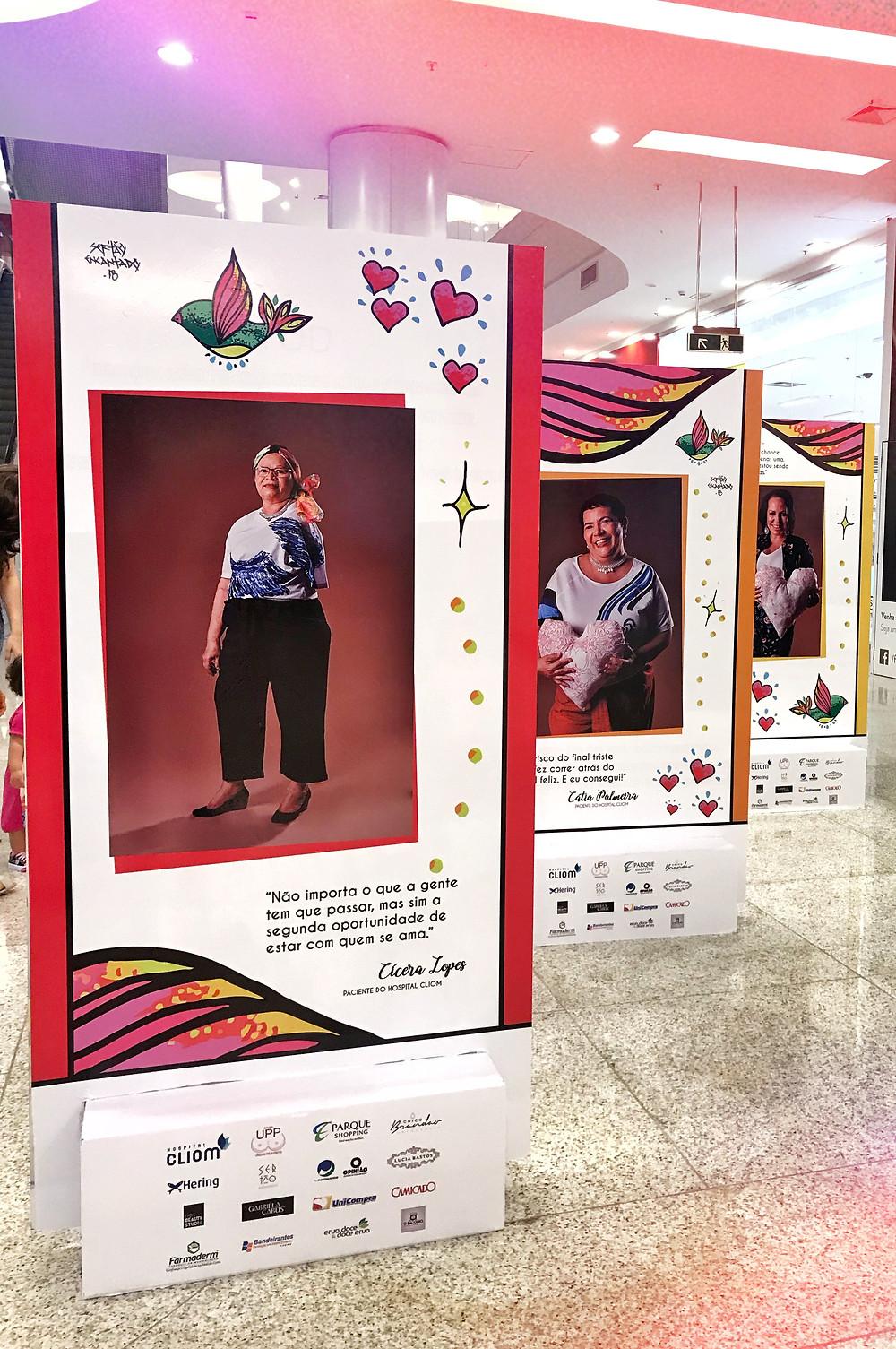 Um pouco da exposição do Hospital Cliom  no Parque Shopping.