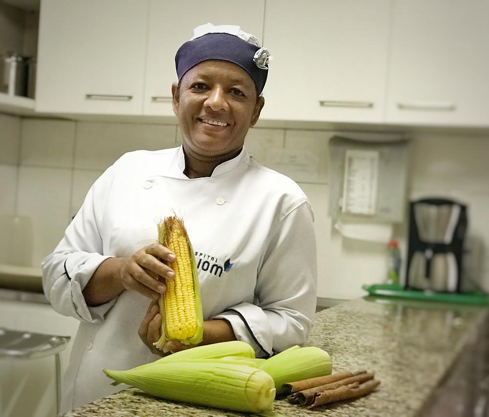 Alessandra, cozinheira do Hospital