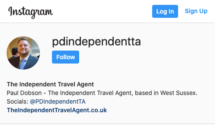 The Independent Travel Agent on Instagram