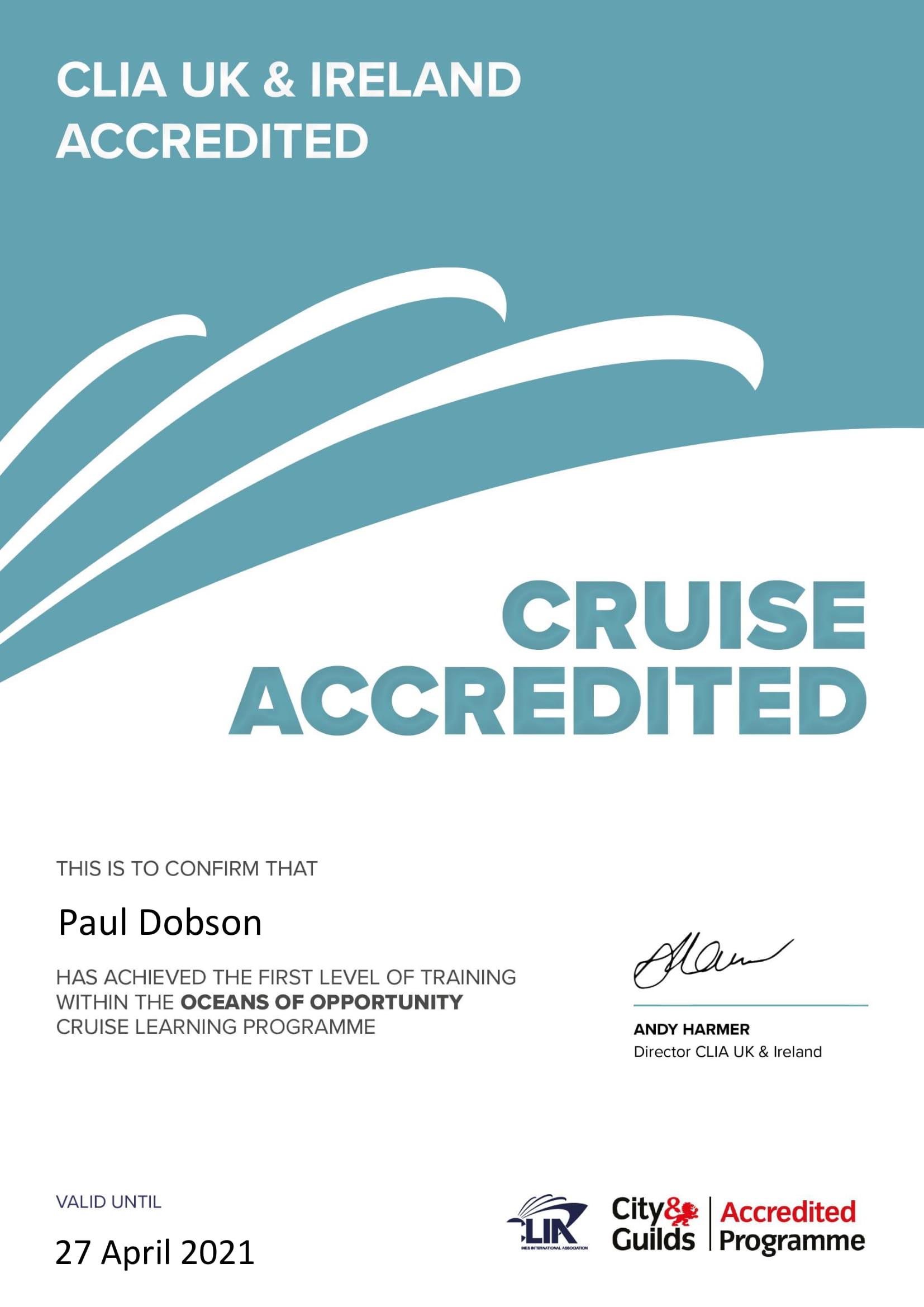 CLIA - Accreditation Certificate - 2020