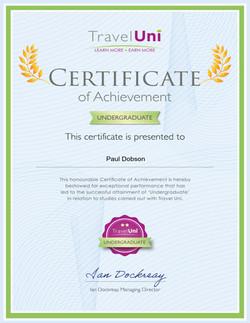 Travel Uni Undergraduate Certificate